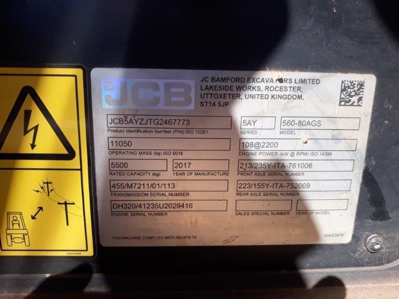 JCB 560-80ST4I TELEHANDLER